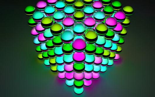 Обои Разноцветные шары