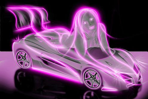 Обои Фантазийная модель авто