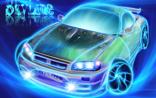 Обои Фантазийная модель авто (SKY LINE)
