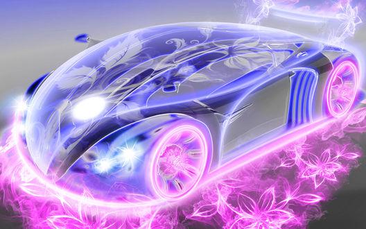 Обои Фантазийная модель авто Peugeot-FloweR