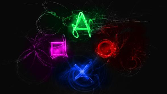 Обои Неоновые буквы разными цветами