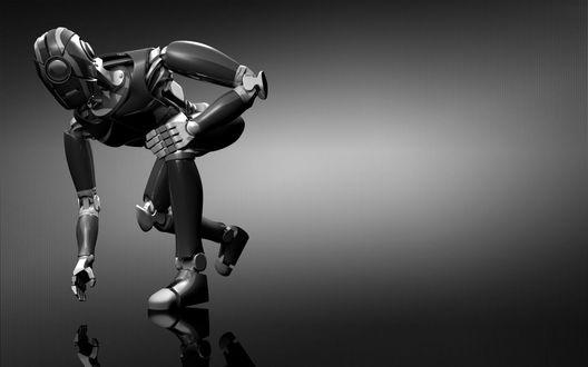 Обои Робот пытается поднять что-то с пола