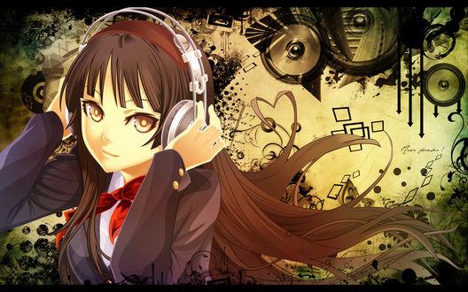Обои Девушка в наушниках (Music forever!)