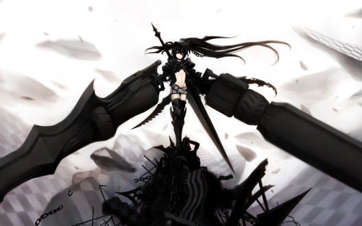 Обои Insane Black Rock Shooter