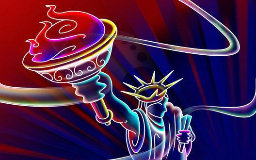 Обои Ultimate Neon-Статуя свободы