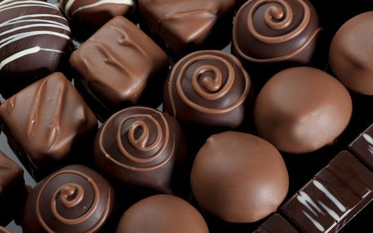 Обои Шоколадные конфеты