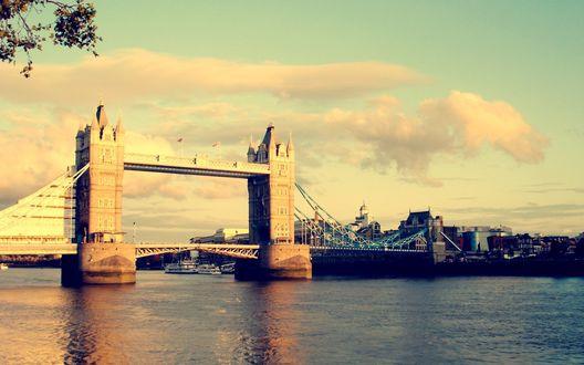 Обои Лондон, Тауэрский мост река Темза