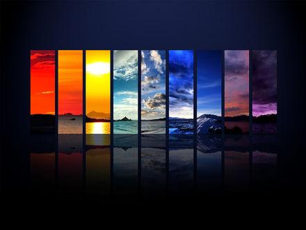 Обои Пейзажи на каждый цвет радуги