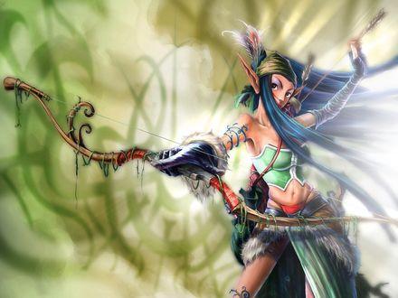 Обои Эльфийская принцесса с луком