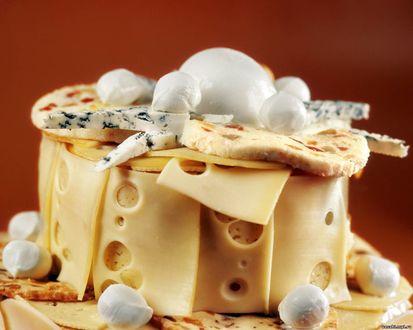 Обои Швейцарский сыр