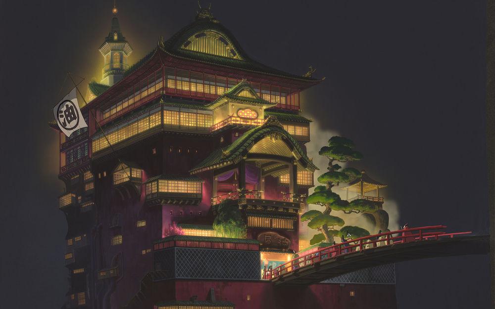 Обои для рабочего стола Унесенные призраками / Spirited Awey, режиссер Хаяо Миядзаки / Hayao Miyazaki