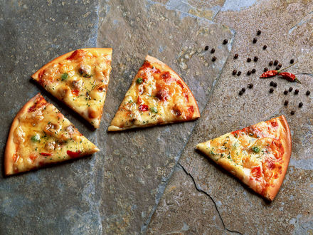 Обои Кусочки пиццы