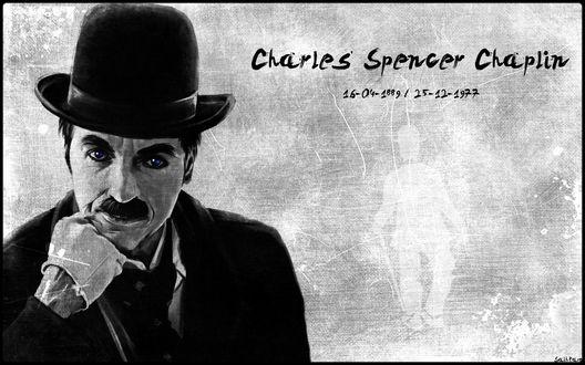 Обои Портрет Чарли Чаплина / Charles Spencer Chaplin (16-04-1889 / 25-12-1977)