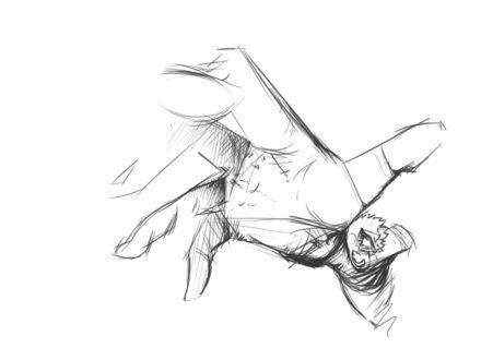 Обои Тянущаяся нарисованная рука