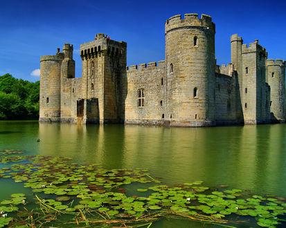 Обои Замок Конуи / Conwy Castle на воде, город-графство Конуи, Уэльс