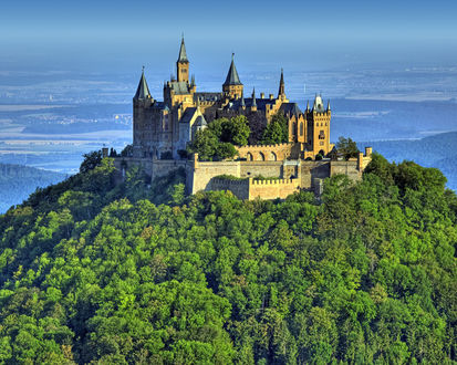 Обои Замок на вершине в Германии, Гогенцоллерн / Hohenzollern In Germany