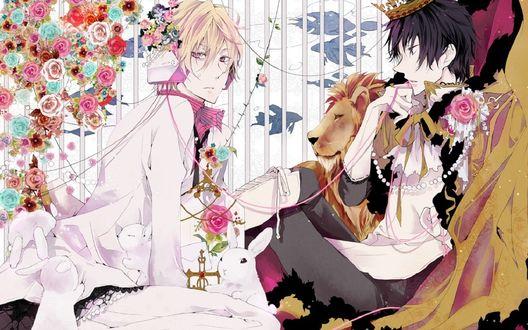 Обои Шизуо Хейваджима и Изая Орихара из аниме Дюрарара!! / Dyurarara!!