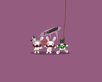 Обои Бешеные кролики: индеец, с вантузом, в инопланетном костюме (D'AHHHHHHH!!!)
