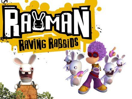 Обои Рейман танцует диско с бешеными кроликами (Rayman Raving Rabbids)