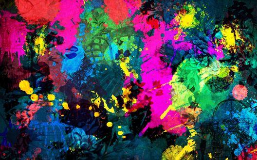 Обои Картина из цветных пятен