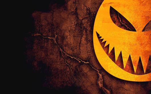 Обои Зло ухмыляющаяся тыква для праздника хеллоуин