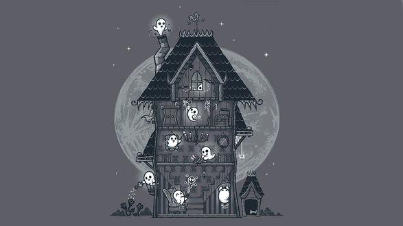 Обои Домик с привидениями