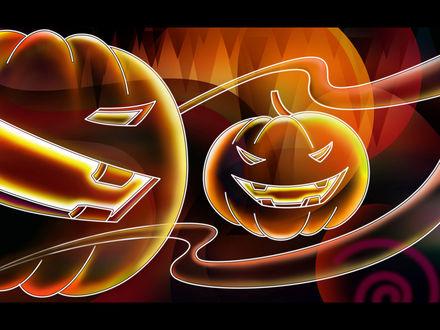 Обои Абстрактный рисунок, в котором можно угадать светильники Джека