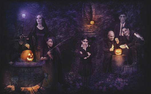 Обои Семейка Адамс в Хэллоуин / Haloween