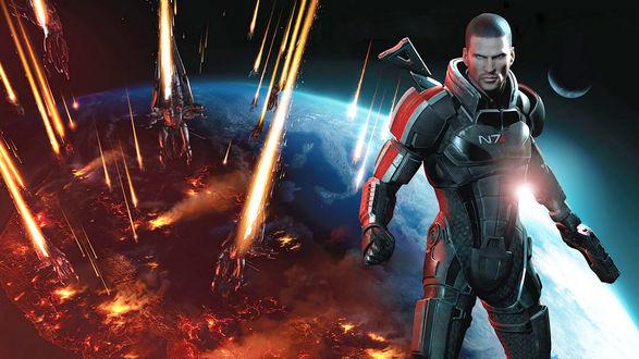 Обои Шепард из игры Mass Effect 3