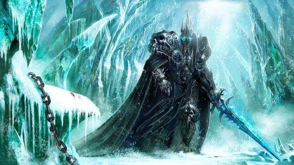 Обои Король Лич из игры 'World Of Warcraft'