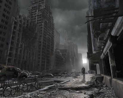 Обои Мир после масштабной катастрофы