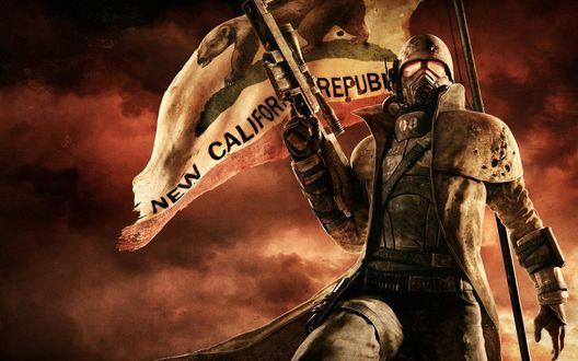 Обои Солдат НКР из игры Fallout: New Vegas