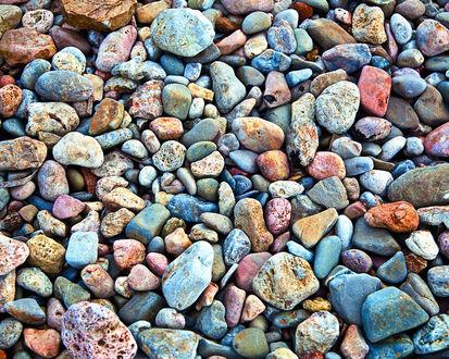 Обои Разноцветные морские камни