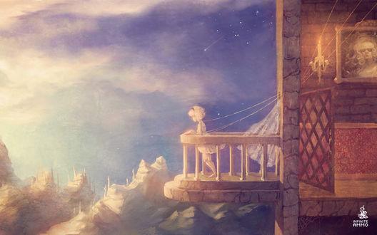 Обои Девушка-марионетка на балконе, Marian (Alec Holowka)