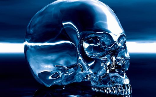 Обои Стеклянный череп