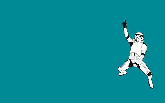 Обои Солдат-штурмовик / Smooth trooperиз фильма Звездные войны / Star wars застыл в движении Майкла Джексона
