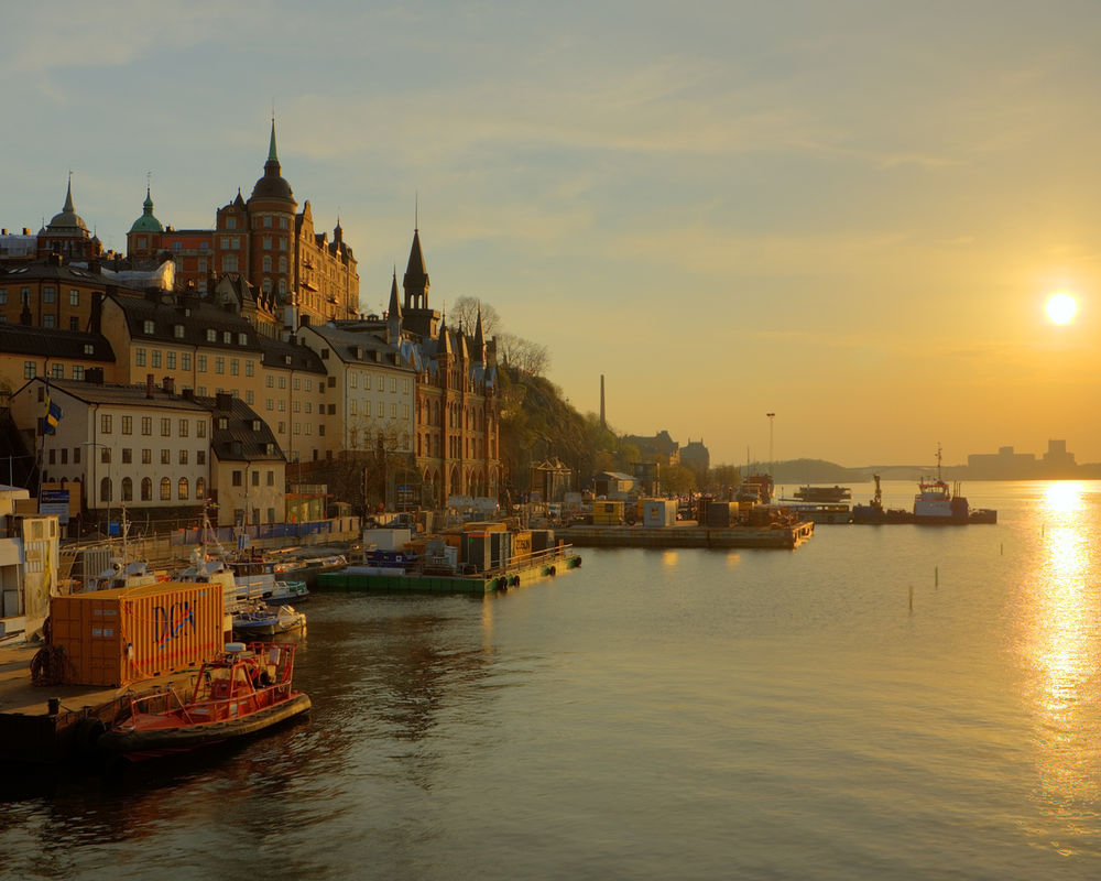 Обои корабль, швеция, дома, стокгольм, причал. Города foto 14