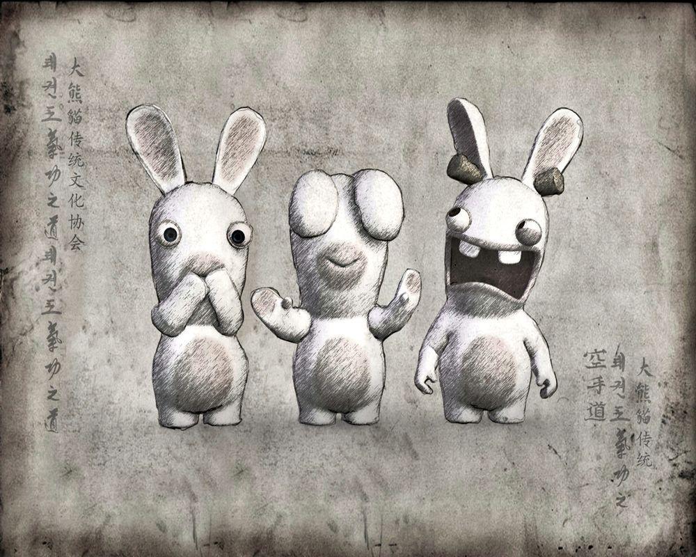 Открытках для, бешеные кролики смешные картинки