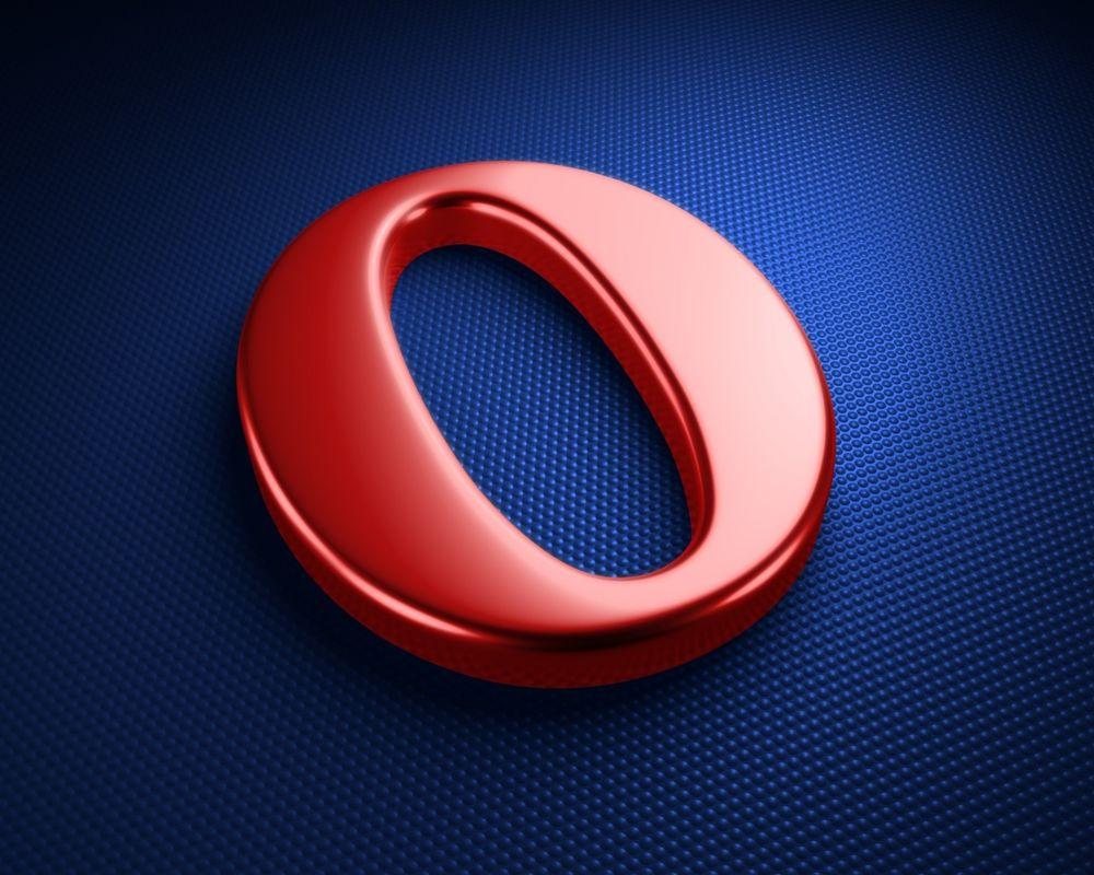 Обои для рабочего стола Значок от веб-браузера Opera / Опера