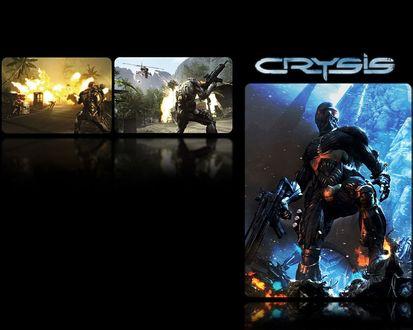 Обои Три сюжета с главным героем из игры Кризис / Crysis