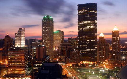 Обои Небоскребы Питтсбурга, Пенсильвания, США