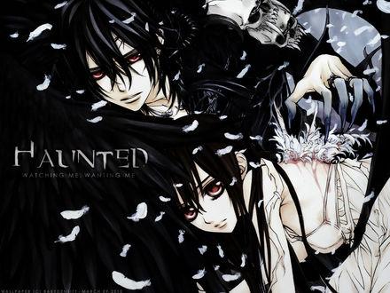 Обои Канаме и Юки из аниме 'Рыцарь-Вампир / Vampire Knight' (HAUNTED watching me, wanting me)