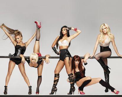 Обои Пять девушек из группы Пусикэт Долс / The Pussycat Dolls