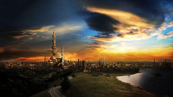 Обои Каир-город тысячи минаретов