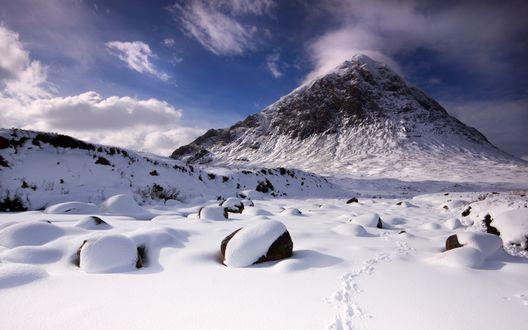 Обои Снежные Альпийские горы
