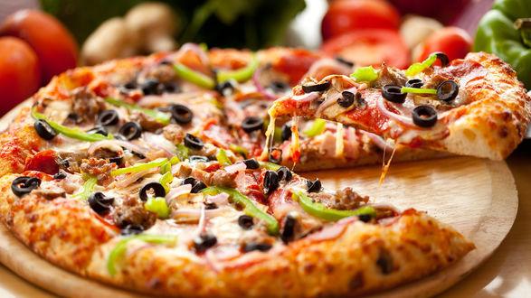 Обои Итальянская пицца