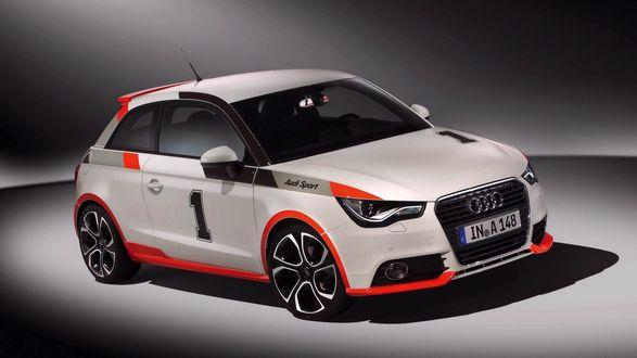 Обои У Ауди А148/ Audi А148 на двери цифра 1 (Audi Sport)