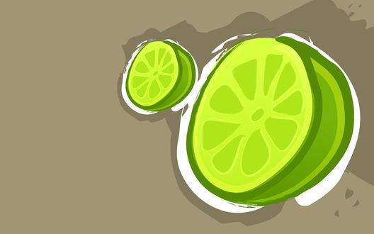 Обои Два лимона, векторная графика