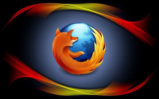 Обои Логотип браузера Mozilla Firefox
