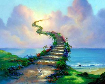 Обои Дорога в небо